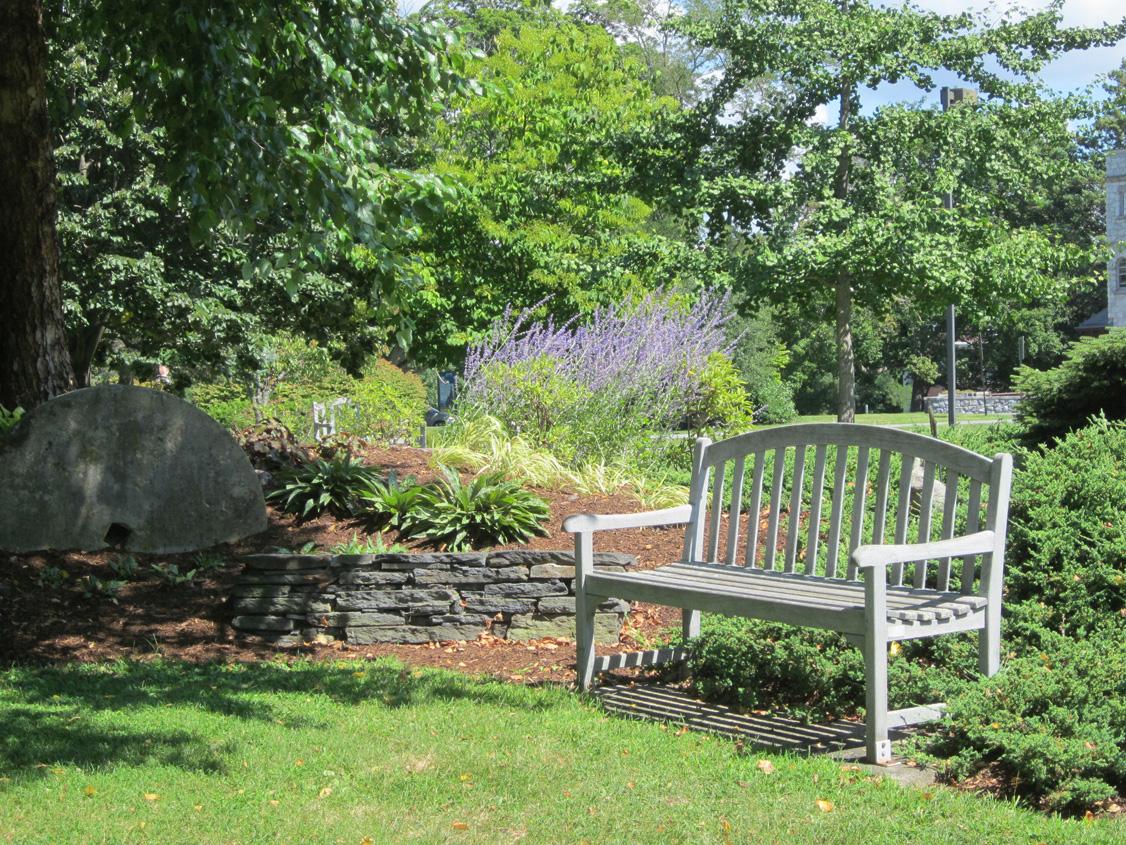Garden at Milne Library